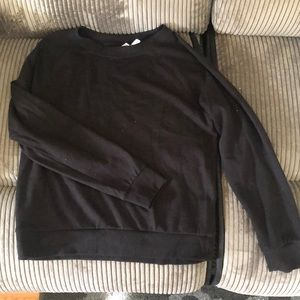 H&M Plain black fitted crew